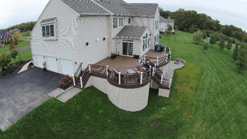 Deck With Patio. Deck With Patio This Project Amazing Decks Created Lovely  Custom Curved Fire