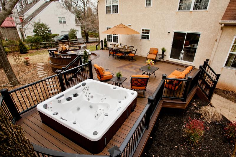 Spa Pool Deck Designs Pool Deck Contractor Amazing Decks