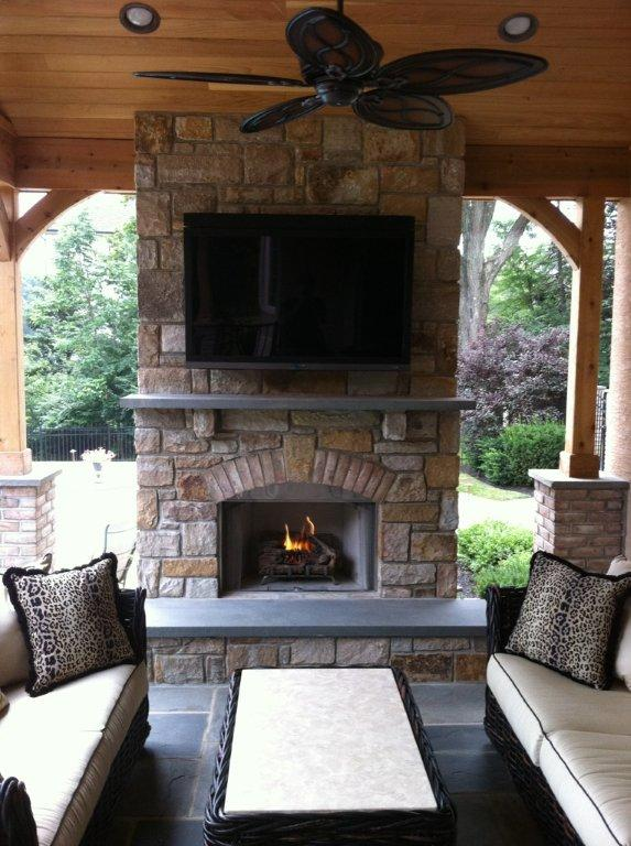 Deck Fireplace Designs Custom Deck Designs Amazing Decks