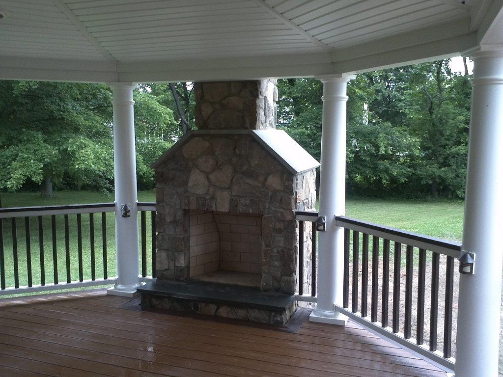 Deck Fireplace Designs Fireplaces for Decks Amazing Decks