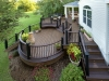 Curved Trex Deck with Flower Beds- Lansdale, Pa