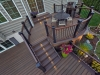 Trex Decking Design with Black Railing- New Hope, Pa