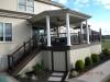 Custom Deck with Roof and Trex Railing- Hillsborough NJ