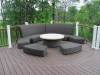 Curved Deck with Furniture Ideas- Amazing Deck