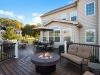 Curved Deck Design with Outdoor Firepit- Trevose Pa- Amazing Deck