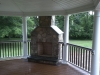 Covered Deck Designs- Outdoor Fireplace- Amazing Deck