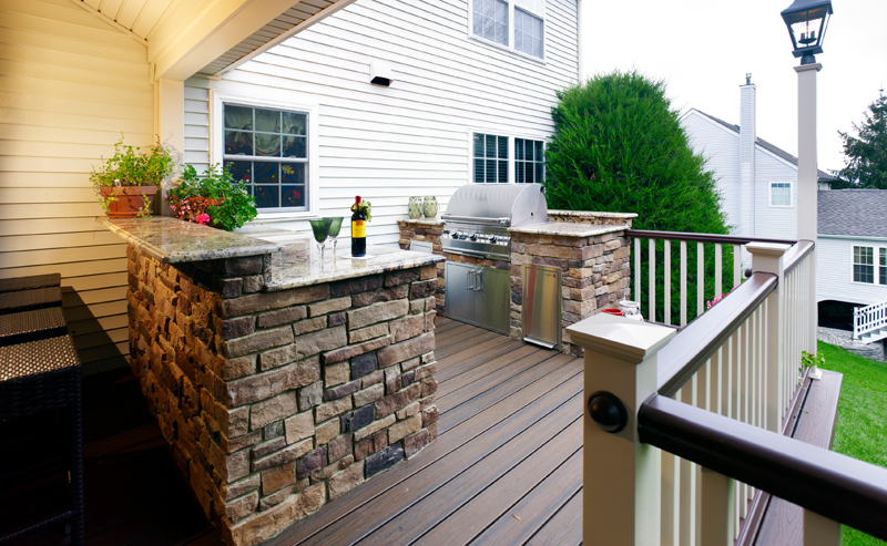 Outdoor deck and patio kitchen designer and contractor for Outdoor kitchen deck plans