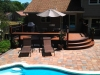 Curved Deck Design with Pool Patio- Amazing Deck
