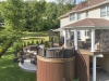 Deck with Roof and Spa Patio Contractor- Amazing Deck