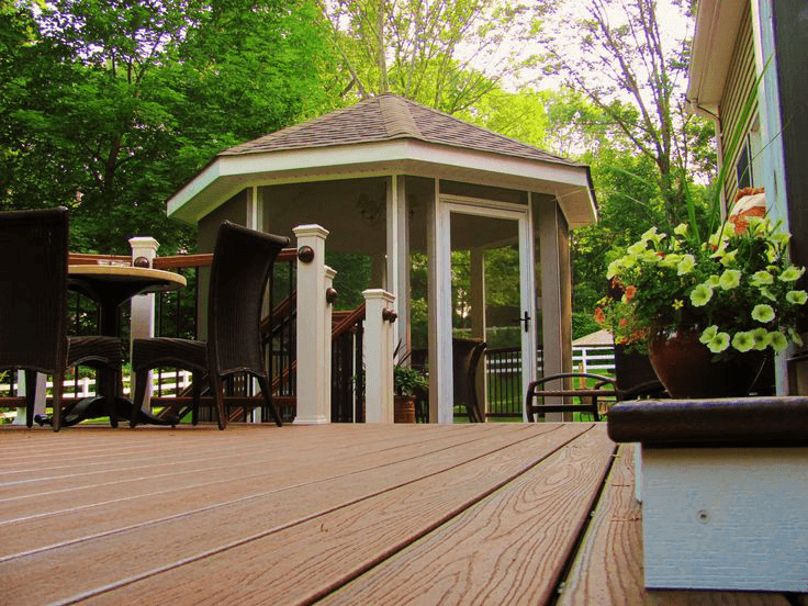 Ideas for amazing screened porch and deck designs screened in gazebo on a deck amazing deck ccuart Images