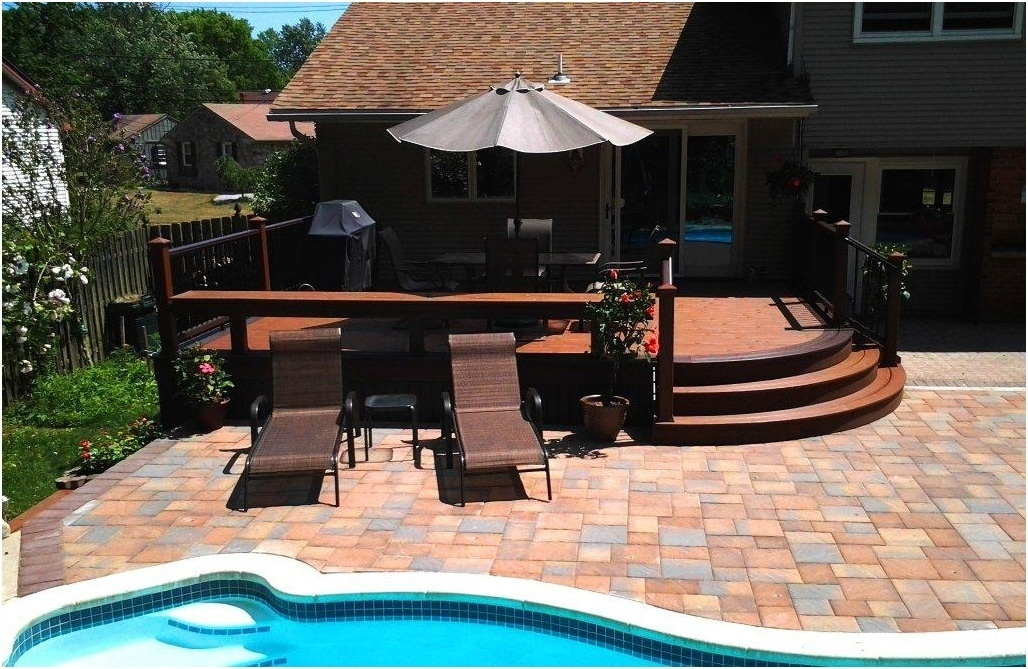 Exceptionnel Integrated Deck And Patio Design With A Pool  Pool Deck Contractors   Amazing Decks