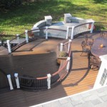 Curved Deck with Curved Patio Design- Amazing Deck