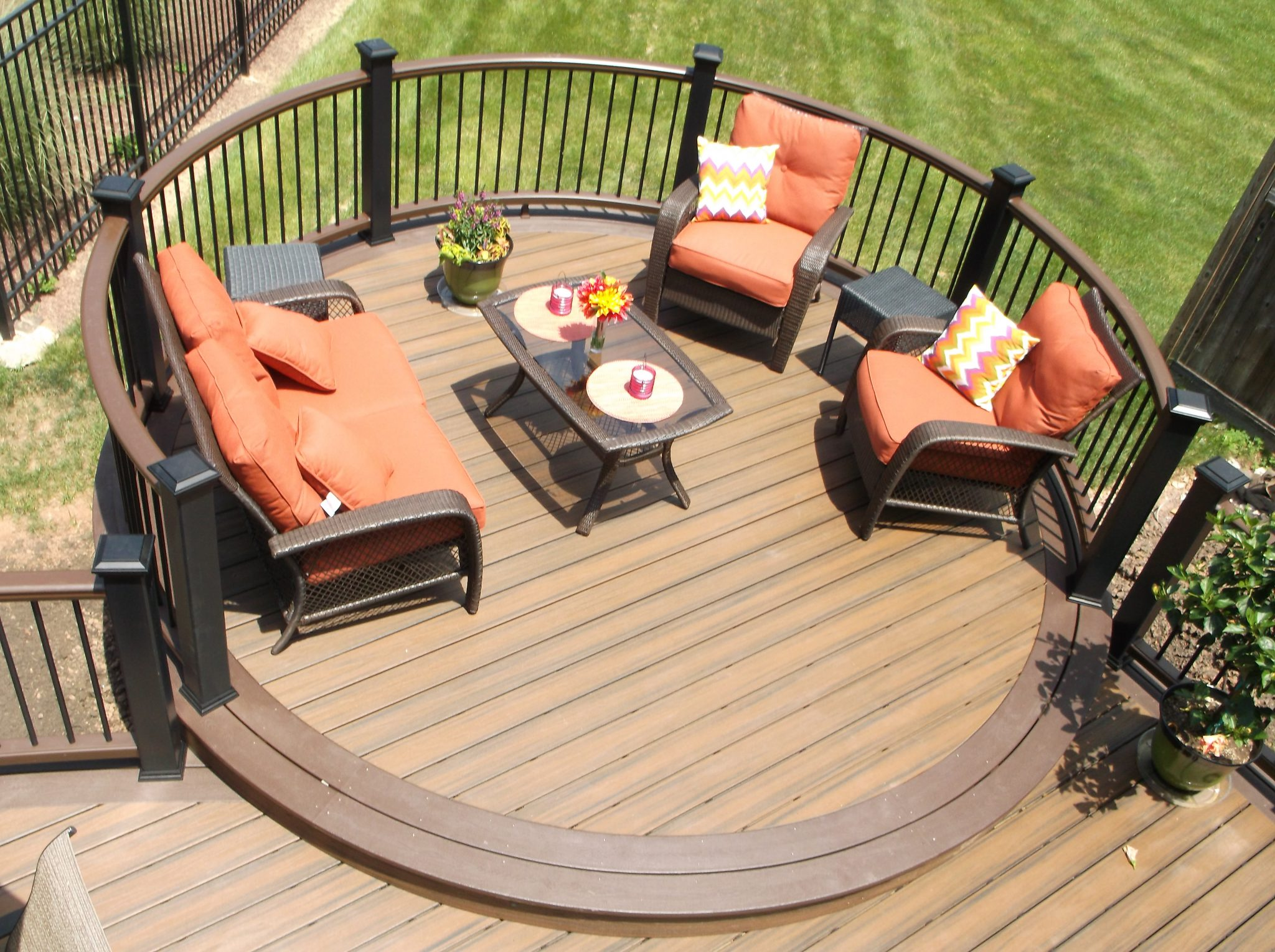 Deck Patterns for Curved Deck Designs- Amazing Deck