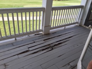 Decaying deck