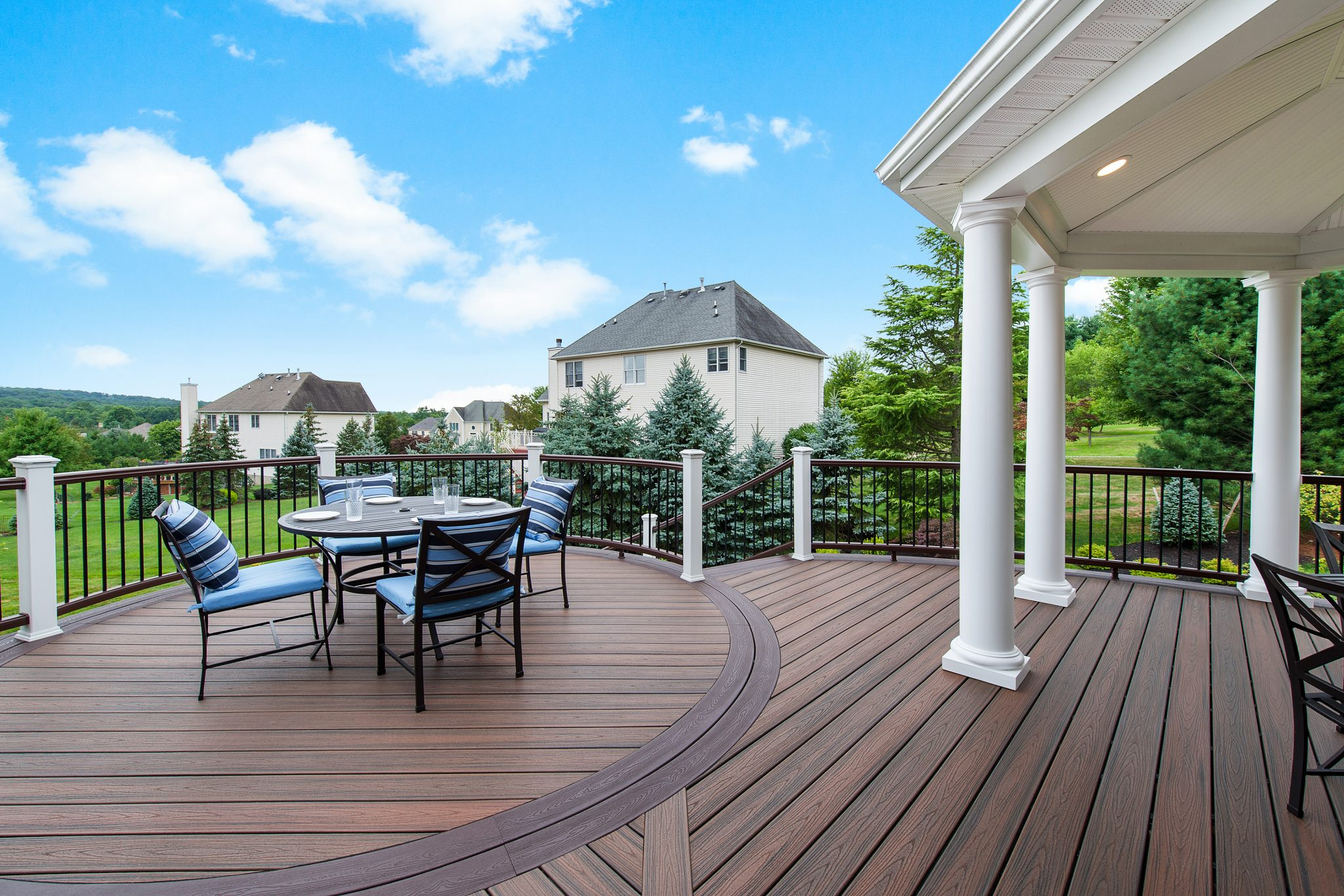 Trex decking designs trex deck builder amazing decks for Another name for balcony