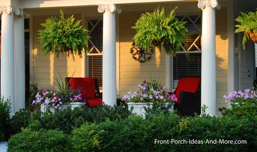 Front Porch Patio Flower Design- Amazing Deck