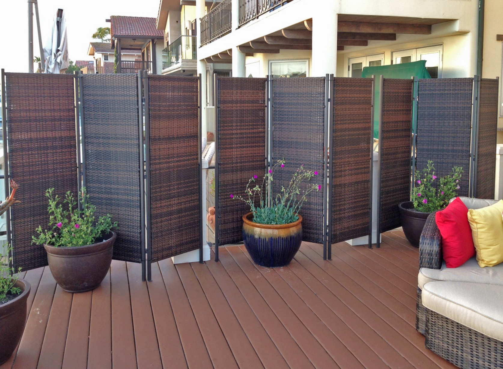 more privacy for your deck or patio amazing deck