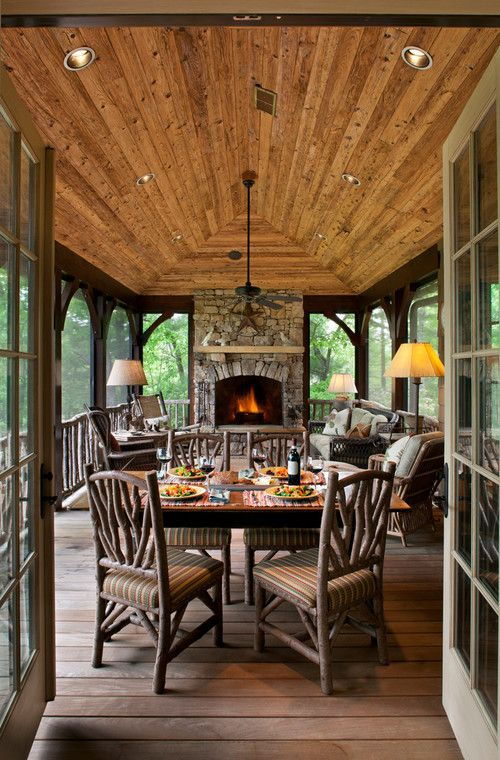 custom screened in porch with wooden vaulted ceiling screened in porch designs amazing deck - Screened In Porch Design Ideas